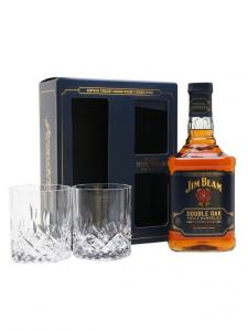 Jim Beam Double Oak + 2x sklo 0,7l 43%