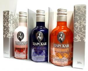 Carskaja vodka set 3x0,05l 38%